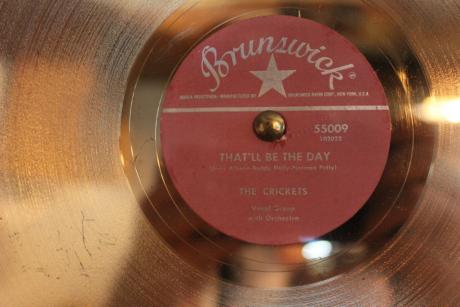 Buddy Holly Gold Record recorded at Norman Petty Studio, photo - Brad Hardisty